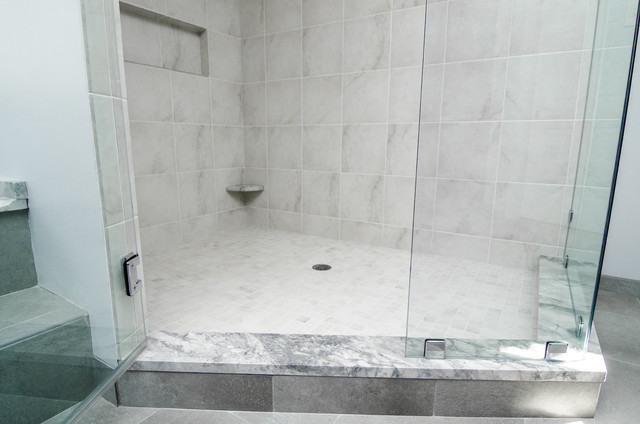 Granite Shower Curb Contemporary Vanity Tops And Side