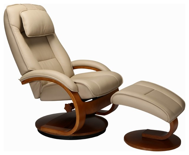 Fabulous Relax R Brampton Recliner And Ottoman Cobblestone Top Grain Leather Pdpeps Interior Chair Design Pdpepsorg