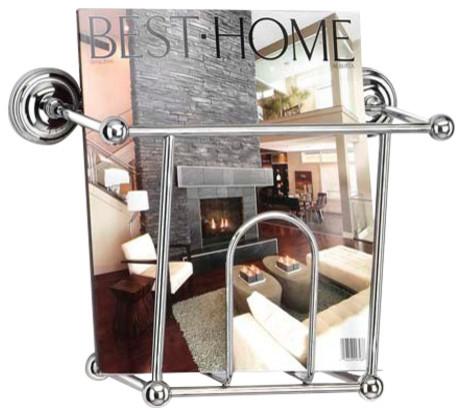 Decorative Chrome Magazine Holder
