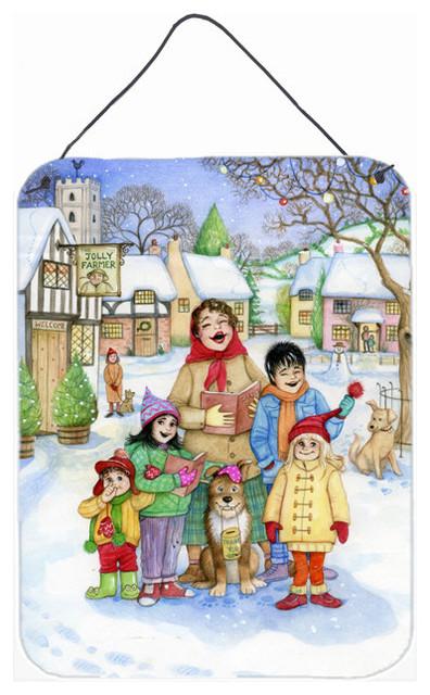 Christmas Carol Singers Figurines.Christmas Carol Singers Wall Door Hanging Print