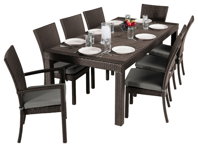 rst brands deco 9 piece dining set outdoor dining sets houzz