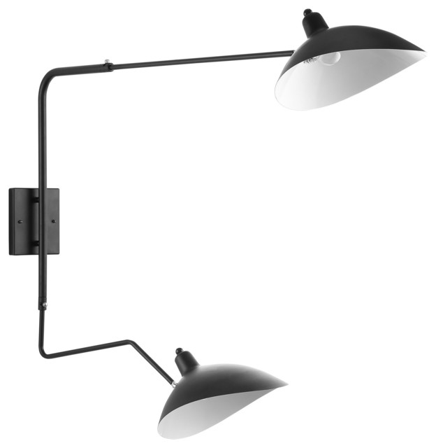 View Double Fixture Wall Lamp Black