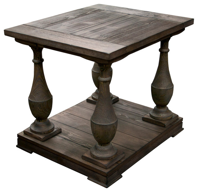 Anthropology Signature Rustic End Table Traditional Side Tables And End  Tables