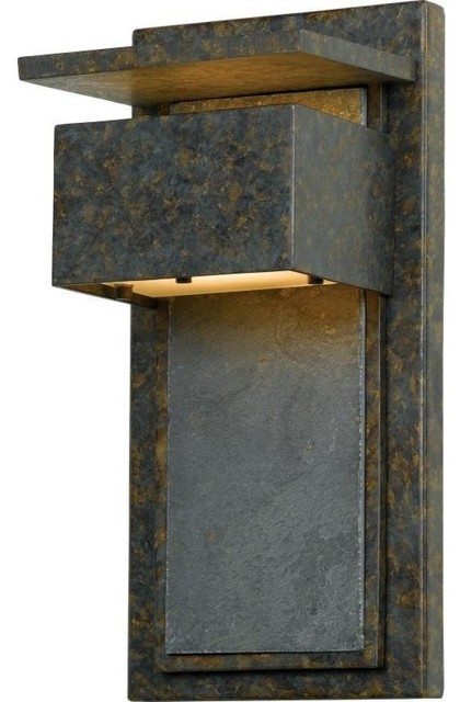 Rustic Exterior Wall Sconces : Zephyr, Muted Bronze, 7