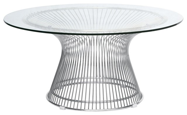 Fine Mod Imports Wire Side Table, Glass   Side Tables And End Tables   By  In Style Modern