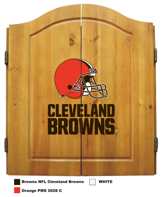 Cleveland Browns Dart Cabinet - Traditional - Darts And Dartboards ...