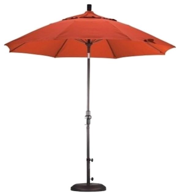 March Products Fiberglass Market Umbrella Collar Tilt, Bronze-Pacifica-Sapphire.