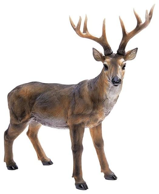Big Rack Buck Deer Statue
