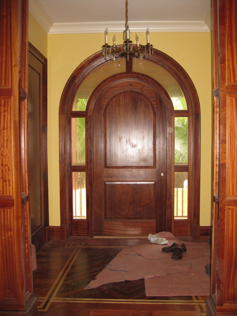 Inspiration for a mediterranean entryway remodel in Tampa