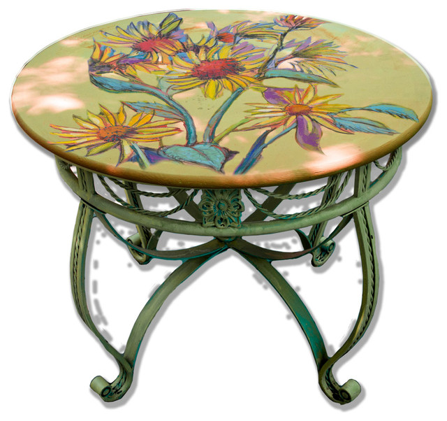 Hand Painted Dining Bistro Table Top 36 Quot Sunflower Design