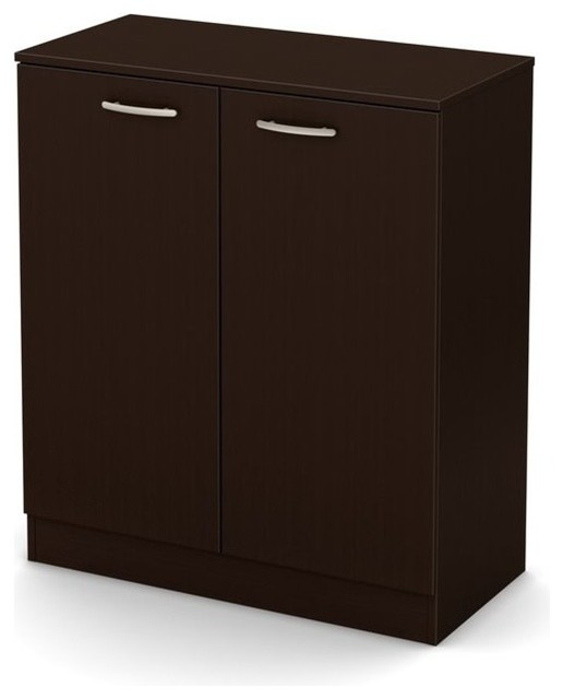 South shore axess storage cabinet chocolate storage for Cocoa cabinets