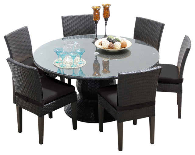 Barbados 60 Outdoor Patio Dining Table, 60 Inch Round Dining Table With 6 Chairs Set