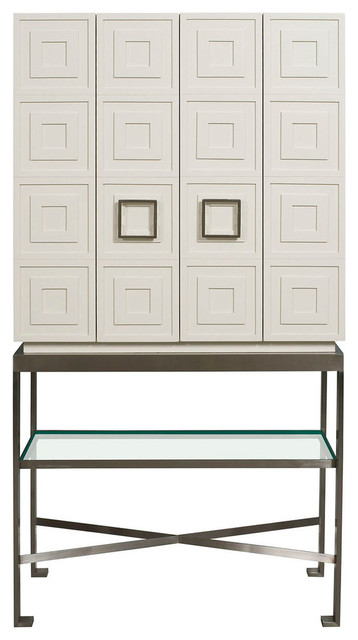 Vanguard Furniture Knickerboker Bar Cabinet In White Lacquer
