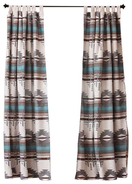 Badlands Southwest Striped Curtain Drape Set