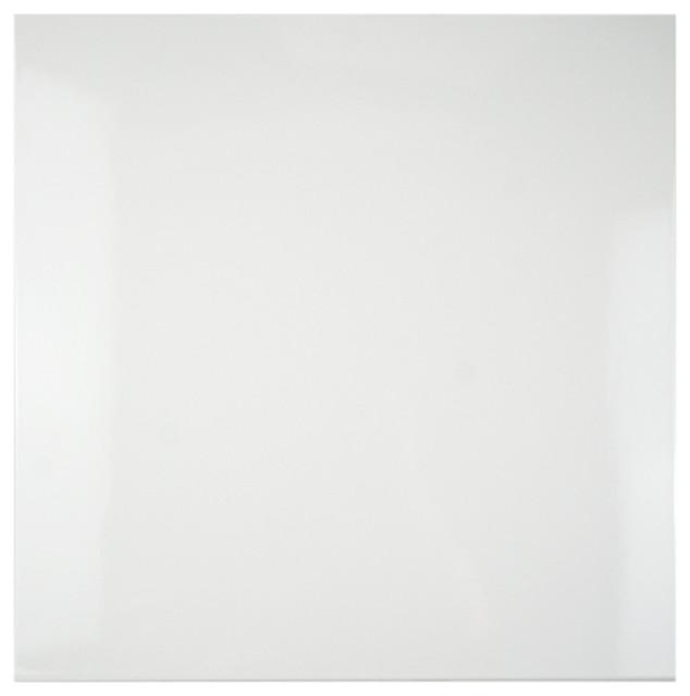 "17.88""x17.88"" Pianoforte Ceramic Floor/wall Tiles, Set Of 5, White."