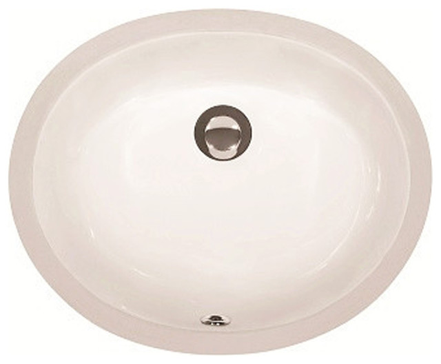 Lottare b b oval undermount porcelain bathroom sink bisque contemporary bathroom sinks by for Contemporary undermount bathroom sinks