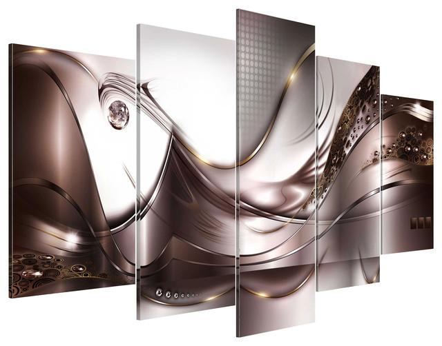 """Golden Storm"" Acrylic Prints, 100x200 cm, Set of 5"