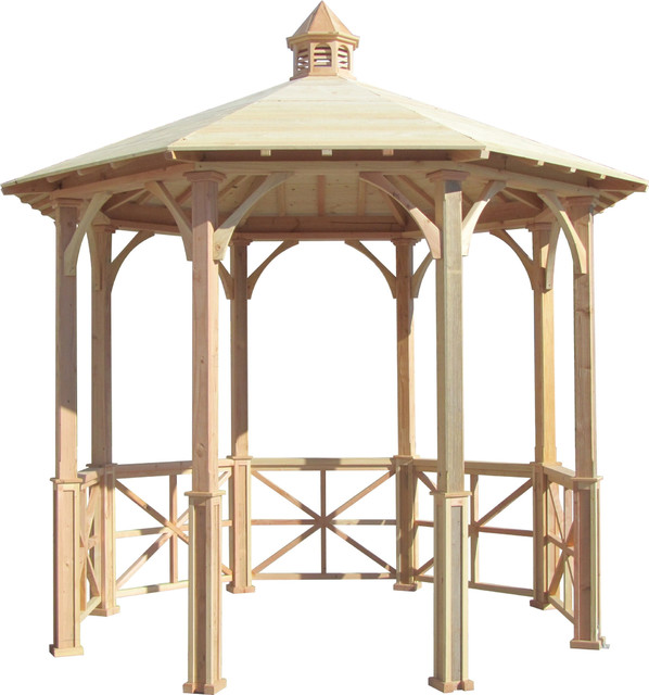 Samsgazebos 10&x27; Octagon English Cottage Garden Gazebo With Cupola.