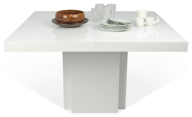 Dusk 59 Dining Table, High Gloss White.