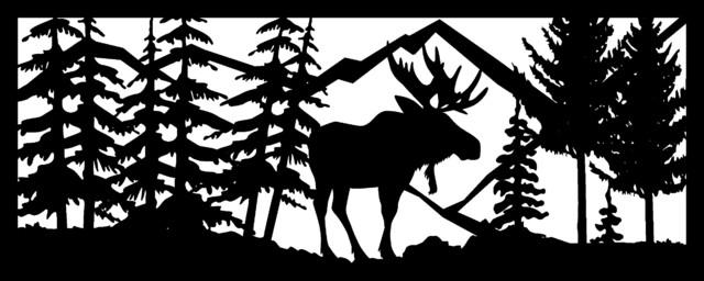 "Moose Panel, 24""x60""."