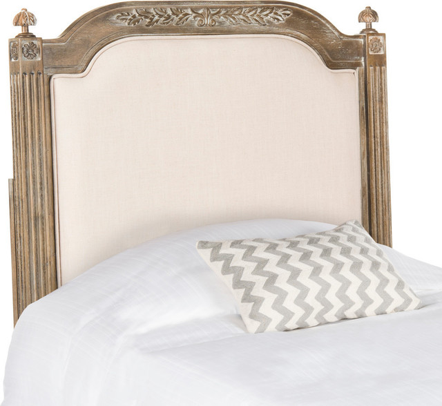 Safavieh Rustic Wood Linen Headboard, Twin - Traditional ...