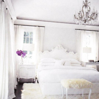 very white bedroom