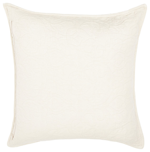 """Flock Stonewashed Cotton Pillow Cover, Natural, 20""""x20""""."""