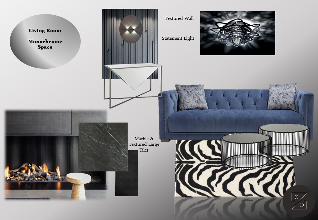 Ideas and concept boards for various living room projects