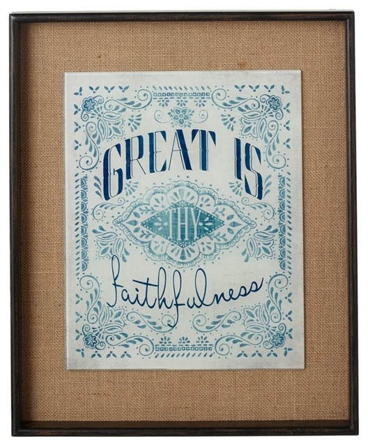 Quot Great Is Thy Faithfulness Quot Wall Decor Contemporary