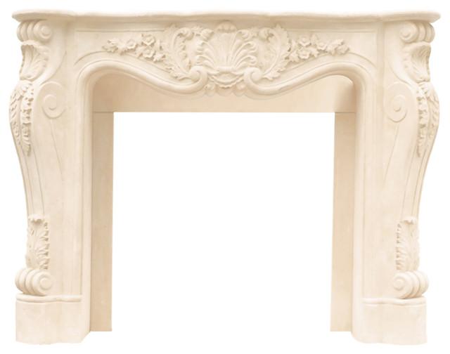 Margerum Cast-Stone Mantel, Ivory
