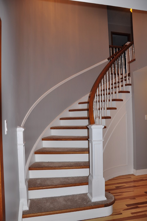 80s Curved Staircase Updated