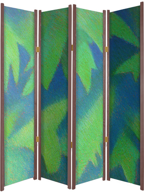 Image Screens In The Undergrowth Abstract Foliage Themed