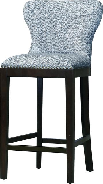 Cool Dorsey Fabric Bar Stool Quiver Indigo Blue Machost Co Dining Chair Design Ideas Machostcouk