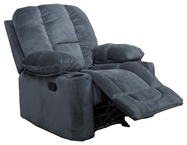 Raymond Steel Gray Fabric Glider Recliner Club Chair contemporary-recliner- chairs  sc 1 st  Houzz & Raymond Steel Gray Fabric Glider Recliner Club Chair ... islam-shia.org
