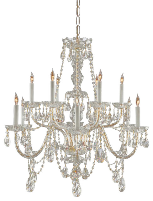 Crystorama crystorama 12 light chandelier reviews houzz - Traditional crystal chandeliers ...