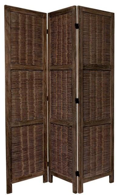 5 5 Tall Bamboo Matchstick Woven Room Divider Screens