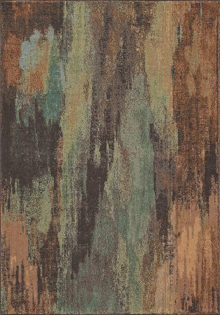Casa Cas6 Multicolored Rug, 5&x27;3x7&x27;6.