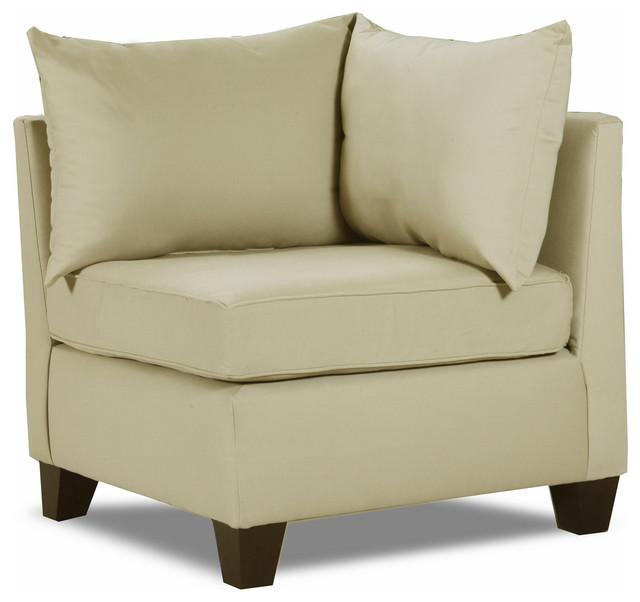 Carolina Accents Belle Meade Corner Chair, Khaki