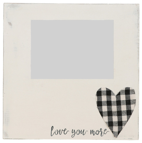Love You More Plaid Heart Frame Farmhouse Picture Frames By