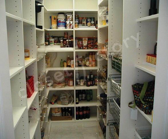 White melamine pantries los angeles par kay wade closet factory - Modifier armoire melamine ...