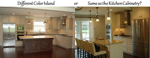 Kitchen Island Different Color Than Cabinets kitchen islands: different or same color as the kitchen cabinetry?