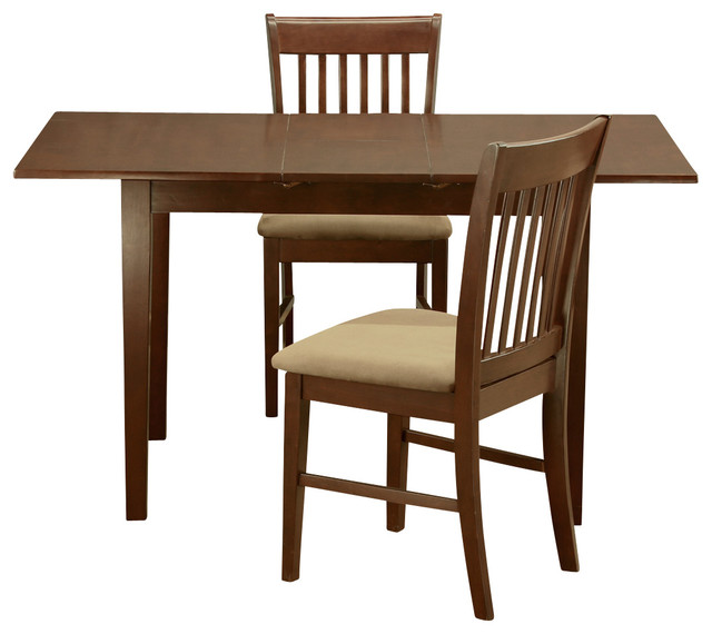 Nofk mah kitchen table set contemporary dining sets for 3 leaf dining room tables