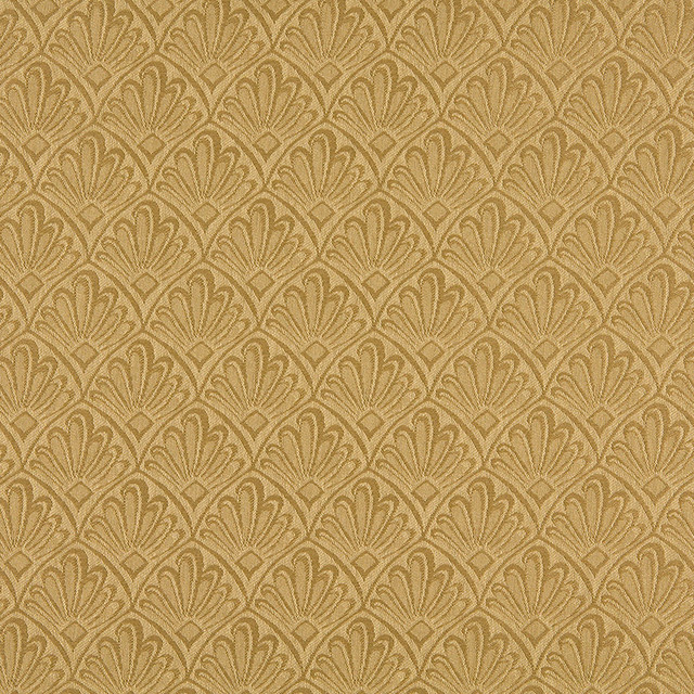 Houzz Spring Landscaping Trends Study: Gold Two Toned Fan Upholstery Fabric By The Yard