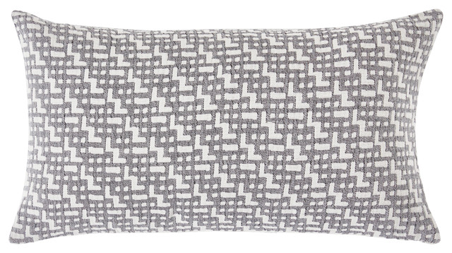 """Lund Stonewashed Cotton Pillow Cover, 12""""x20""""."""