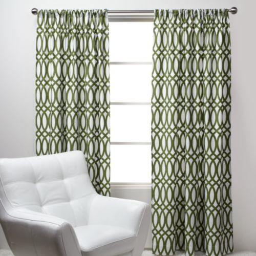 Geo Panels   Green Modern Curtains