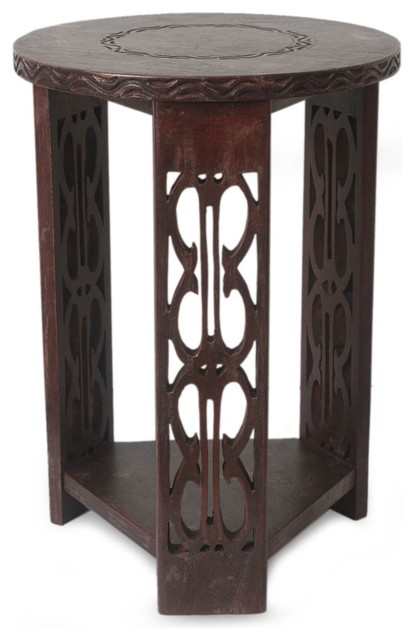 Novica African Endurance Wood Side Table Tropical Tables And End By