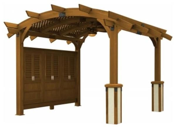 Outdoor Greatroom Company Sonoma 12-R Sonoma Arched Wood Cedar Pergola, 12&x27;x12&x27;.