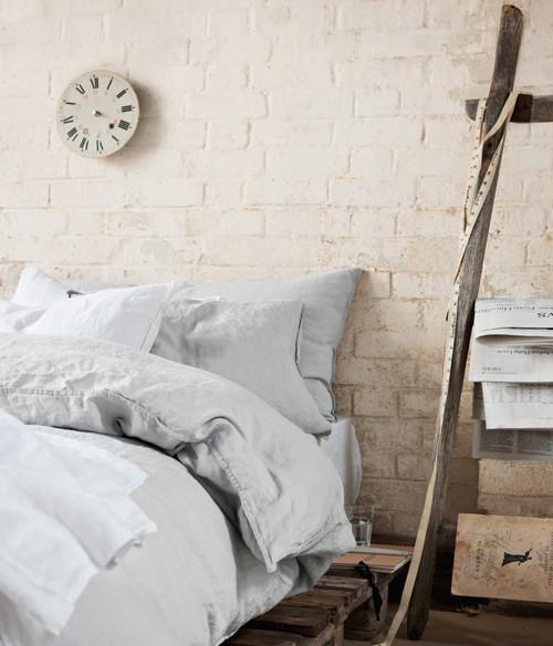 Dormitorios en rosa palo y gris