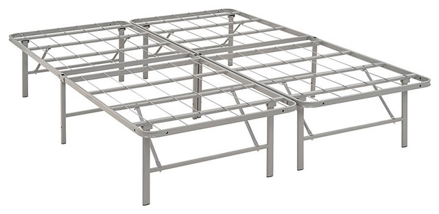 Modway Horizon Queen Stainless Steel Bed Frame.