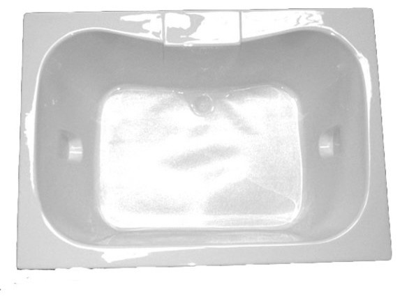 American Acrylic And Injection Rectangle Drop-In Air Jet Tub, Bone.
